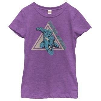 Triangle Captain America Girl's Shirt