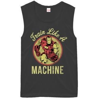 Iron Man Train Like a Machine Junior's Tank Top