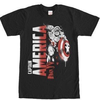 Captain America Paint Splatter Tshirt