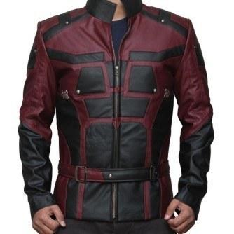Daredevil Matt Murdock Red and Black Leather Jacket